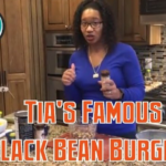 Tia's Famous Black Bean burgers